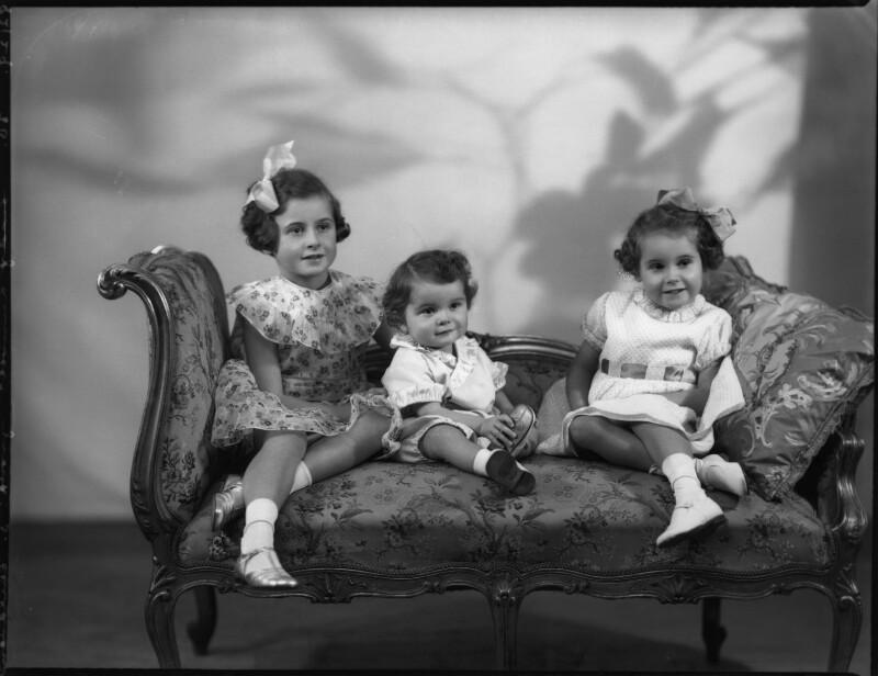 Lady Kinnoull's three children, by Bassano Ltd, 11 December 1936 - NPG x152495 - © National Portrait Gallery, London