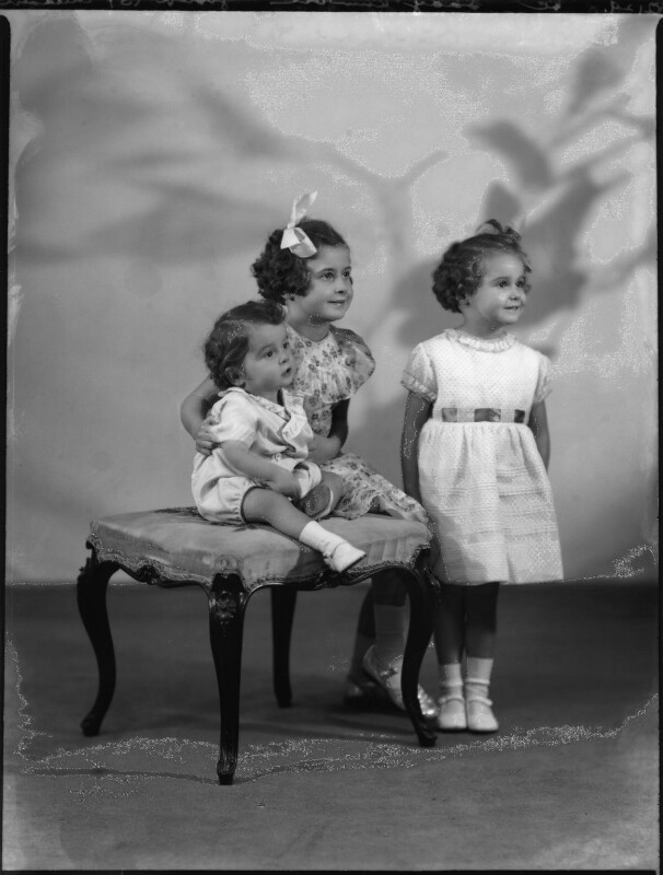 Lady Kinnoull's three children, by Bassano Ltd, 11 December 1936 - NPG x152496 - © National Portrait Gallery, London
