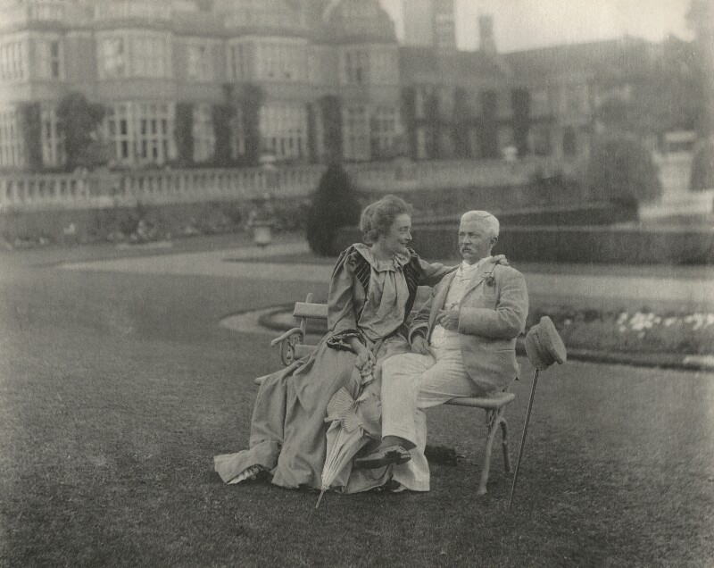 Dorothy (née Tennant), Lady Stanley; Sir Henry Morton Stanley, by Eveleen Myers (née Tennant), 1890 - NPG Ax68486 - © National Portrait Gallery, London