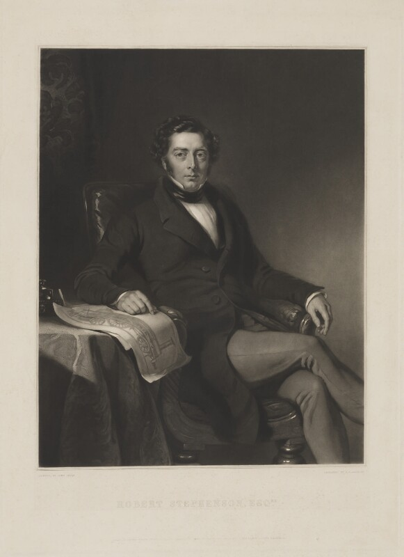 Robert Stephenson, by John Richardson Jackson, published by  Henry Graves & Co, after  John Lucas, published 1 March 1846 - NPG D9168 - © National Portrait Gallery, London