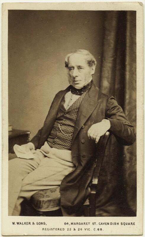 John Somerset Pakington, 1st Baron Hampton, by William Walker & Sons, 1864 - NPG Ax8620 - © National Portrait Gallery, London