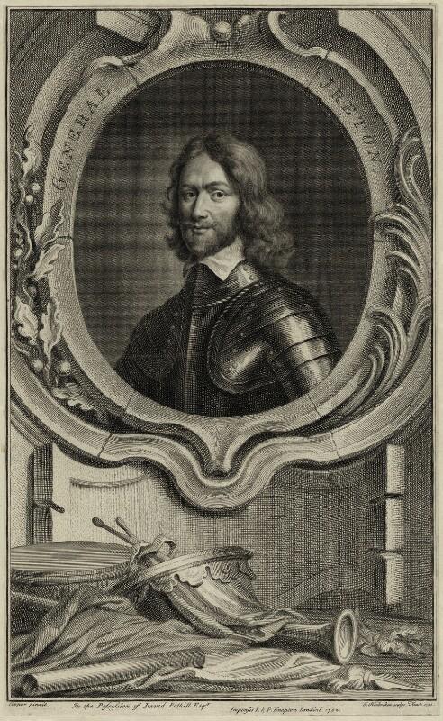 Henry Ireton, by Jacobus Houbraken, after  Samuel Cooper, published by  John & Paul Knapton, published 1742 - NPG D28785 - © National Portrait Gallery, London