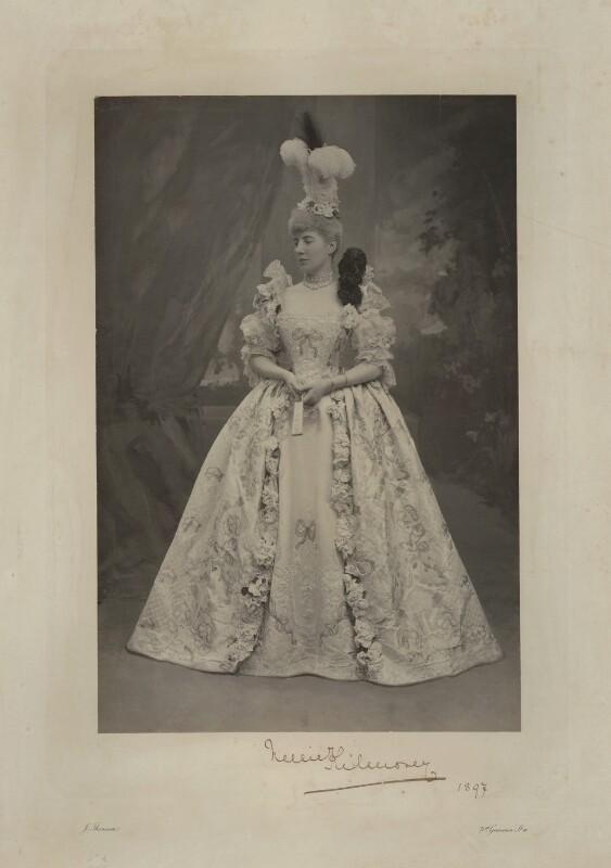 Ellen Constance ('Nellie') Needham (née Baldock), Countess of Kilmorey as Countess du Barri, by John Thomson, 1897 - NPG x131289 - © National Portrait Gallery, London
