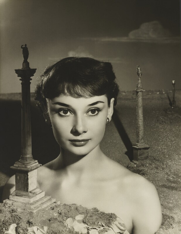 Audrey Hepburn, by Angus McBean, October 1950 - NPG P1295 - © reserved; collection National Portrait Gallery, London