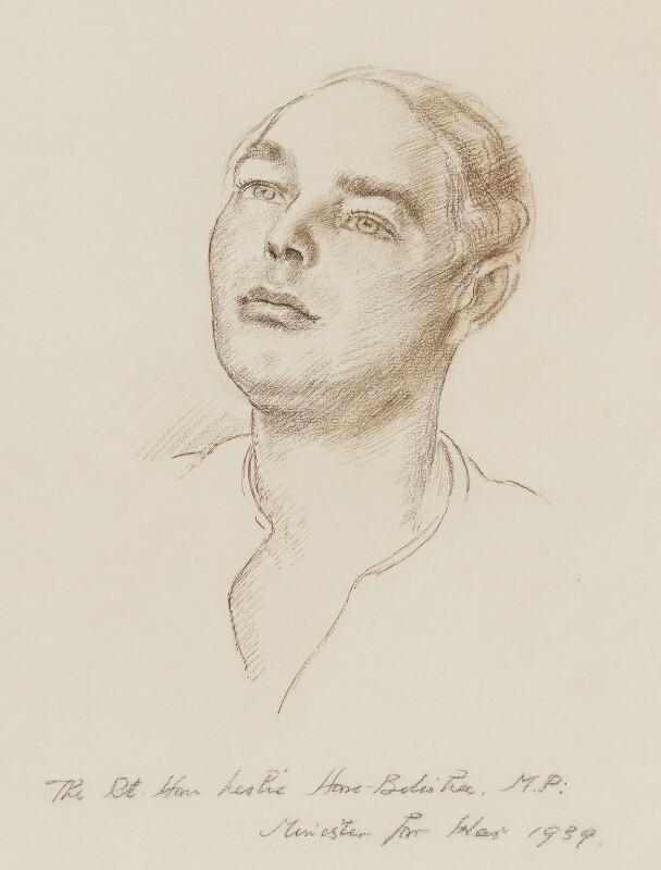 Leslie Hore-Belisha, Baron Hore-Belisha, by Robin Craig Guthrie, 1939 - NPG 6508 - © estate of Robin Craig Guthrie / National Portrait Gallery, London