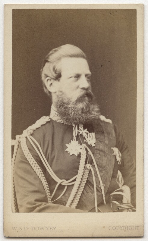 Frederick III, Emperor of Germany and King of Prussia, by W. & D. Downey, circa 1870 - NPG x36372 - © National Portrait Gallery, London