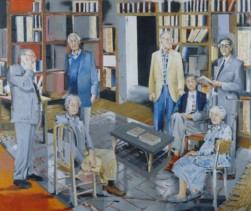 Historians of 'Past and Present', by Stephen Frederick Godfrey Farthing, 1999 - NPG 6518 - © National Portrait Gallery, London