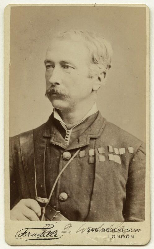 Garnet Joseph Wolseley, 1st Viscount Wolseley, by Albert Eugene Fradelle, 1882 - NPG x13320 - © National Portrait Gallery, London
