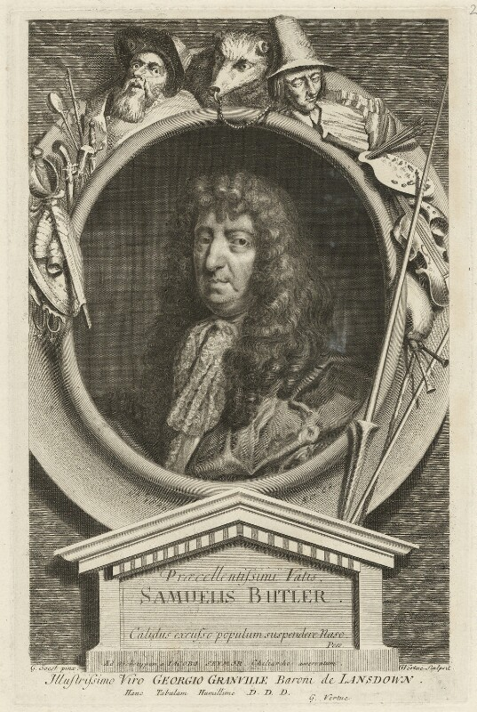 Samuel Butler, by George Vertue, after  Gilbert Soest, circa 1700-1725 - NPG D32494 - © National Portrait Gallery, London
