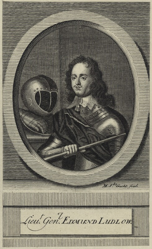 Edmund Ludlow, by Michael Vandergucht, 1713 - NPG D28930 - © National Portrait Gallery, London