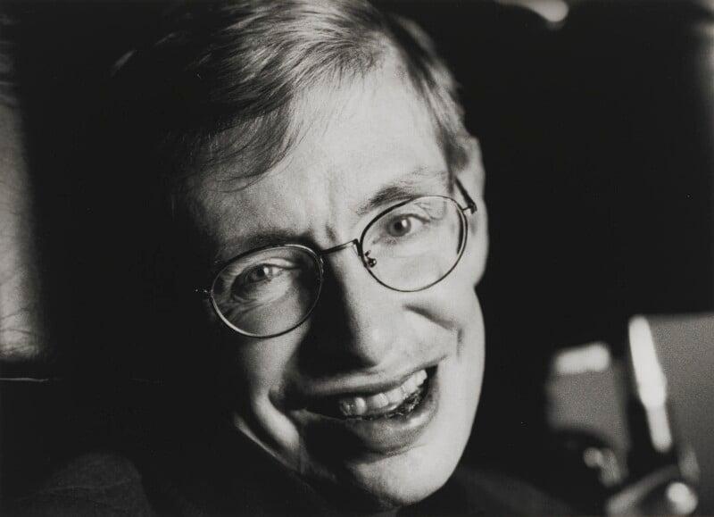 Stephen Hawking, by Jane Bown, 1999 - NPG P758(4) - © National Portrait Gallery, London
