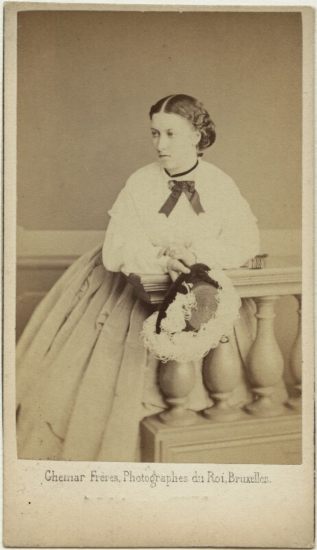 Princess Helena Augusta Victoria of Schleswig-Holstein, by Ghémar Frères, mid 1860s - NPG x36356 - © National Portrait Gallery, London
