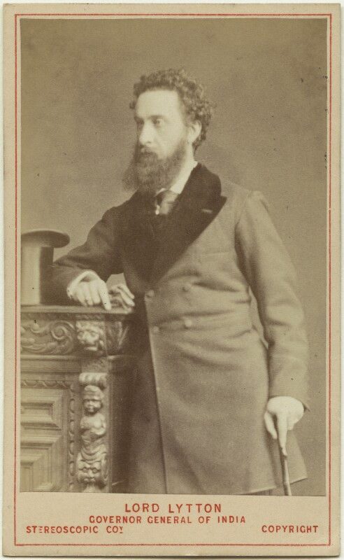 Edward Robert Bulwer-Lytton, 1st Earl of Lytton, by London Stereoscopic & Photographic Company, 1876 - NPG Ax46198 - © National Portrait Gallery, London