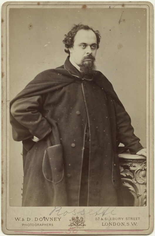 Dante Gabriel Rossetti, by W. & D. Downey, December 1862 - NPG x131297 - © National Portrait Gallery, London