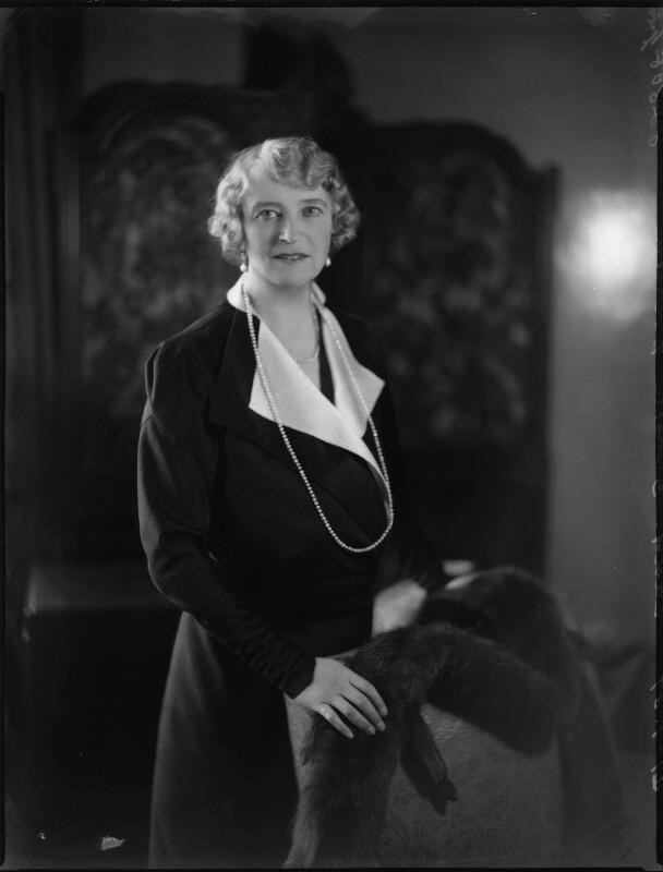 Olive Crofton (née Schneider), Lady Smith-Dorrien, by Bassano Ltd, 21 January 1937 - NPG x152530 - © National Portrait Gallery, London