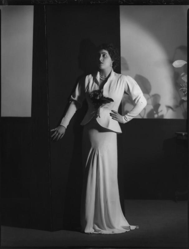 H. Mitchell (Fashion portrait), by Bassano Ltd, 22 January 1937 - NPG x152538 - © National Portrait Gallery, London