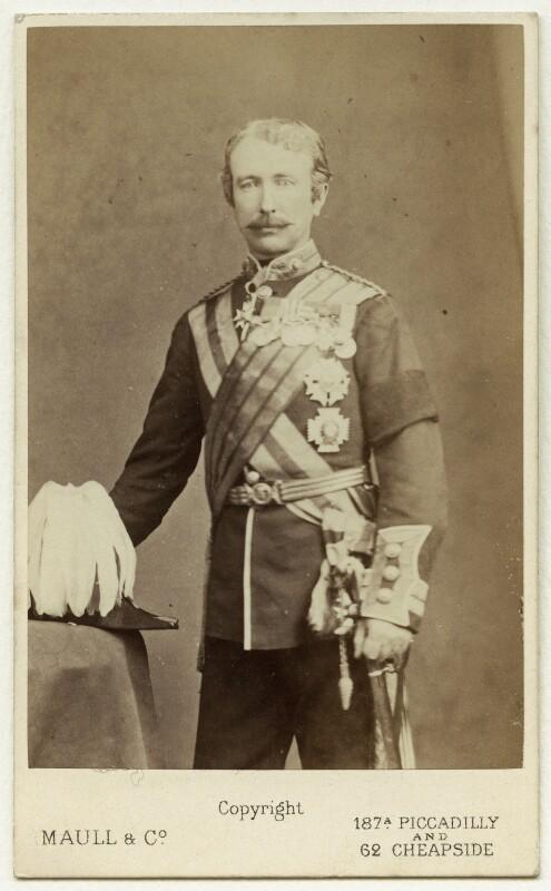 Garnet Joseph Wolseley, 1st Viscount Wolseley, by Maull & Co, mid 1870s - NPG x13319 - © National Portrait Gallery, London