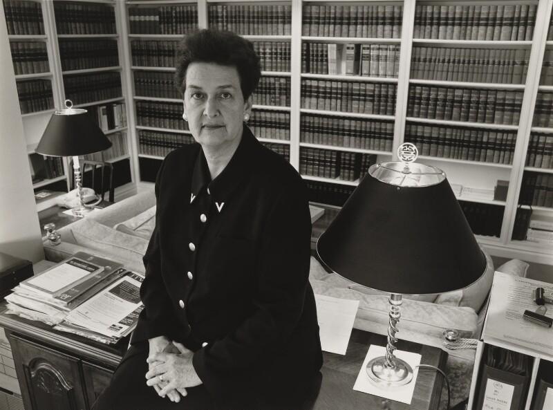 Dame Rosalyn Higgins (née Cohen), by Julia Hedgecoe, 1997 - NPG P751(10) - © Julia Hedgecoe / National Portrait Gallery, London