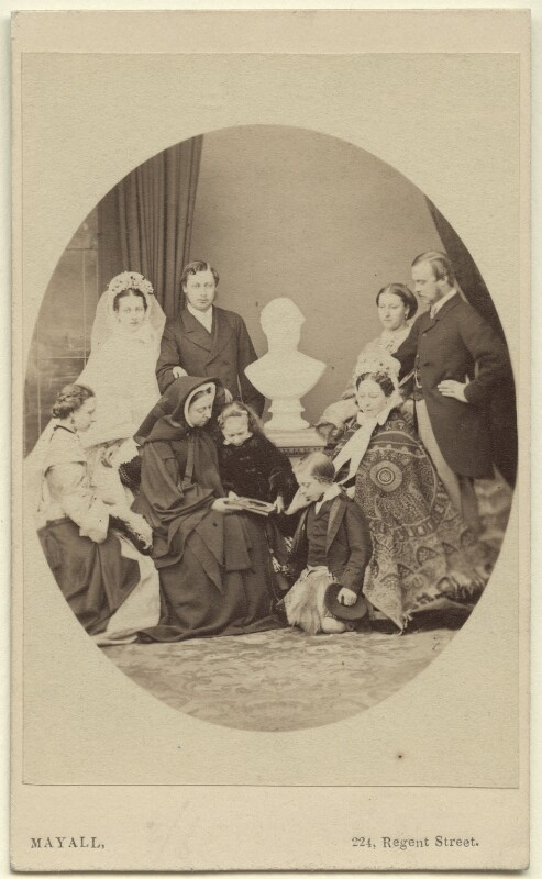 Queen Victoria with her family, by John Jabez Edwin Mayall, April 1863 - NPG Ax131299 - © National Portrait Gallery, London