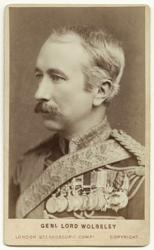 Garnet Joseph Wolseley, 1st Viscount Wolseley, by London Stereoscopic & Photographic Company, 1880s - NPG x24406 - © National Portrait Gallery, London