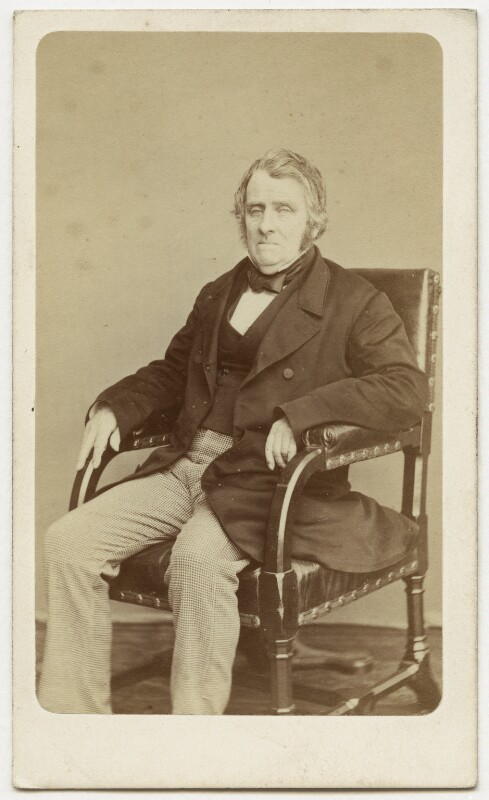 John Arthur Roebuck, by W. & D. Downey, 1865 - NPG x12860 - © National Portrait Gallery, London