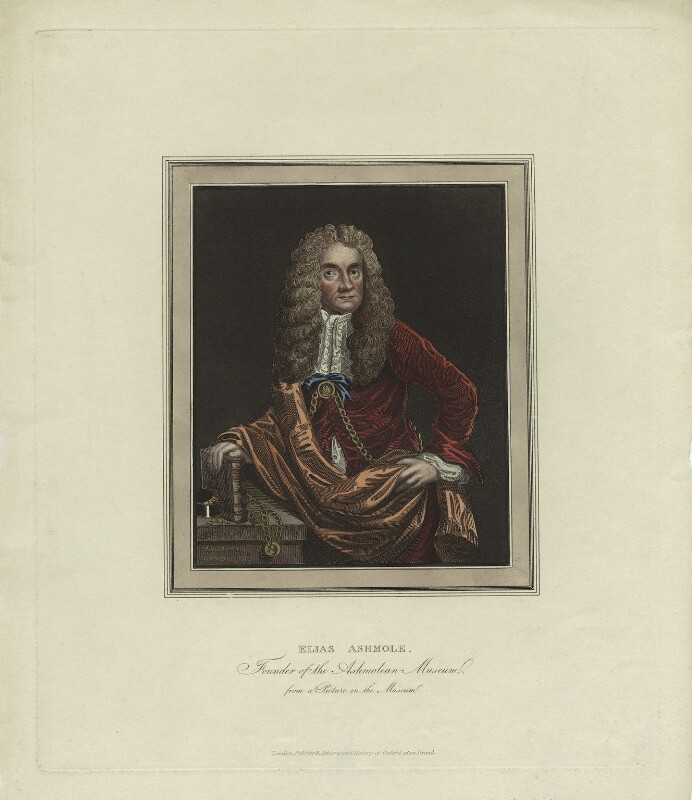 Elias Ashmole, after Unknown artist, early 19th century - NPG D29107 - © National Portrait Gallery, London