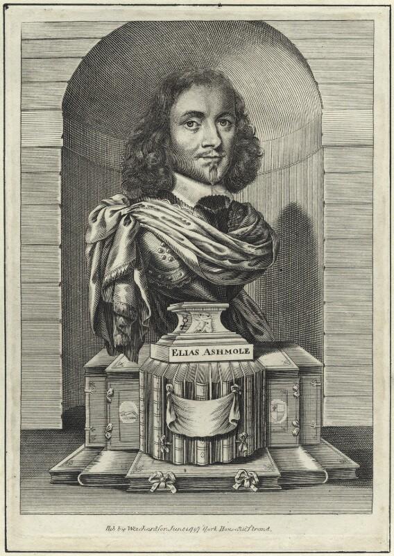 Elias Ashmole, after William Faithorne, published 1797 - NPG D29108 - © National Portrait Gallery, London