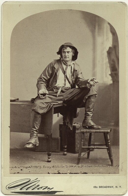 Joseph Jefferson as Rip van Winkle in 'Rip van Winkle', by Napoleon Sarony, 1870s (1869) - NPG x18859 - © National Portrait Gallery, London