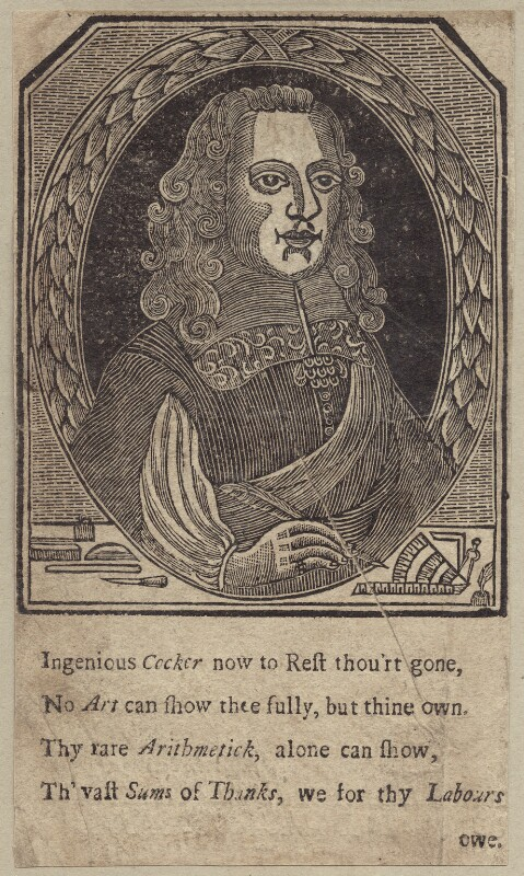 Edward Cocker, after Unknown artist, mid 17th century - NPG D29159 - © National Portrait Gallery, London