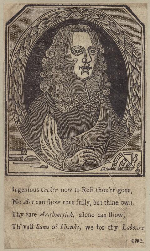 Edward Cocker, after Unknown artist, mid 17th century - NPG D29159 - © National Portrait Gallery, London