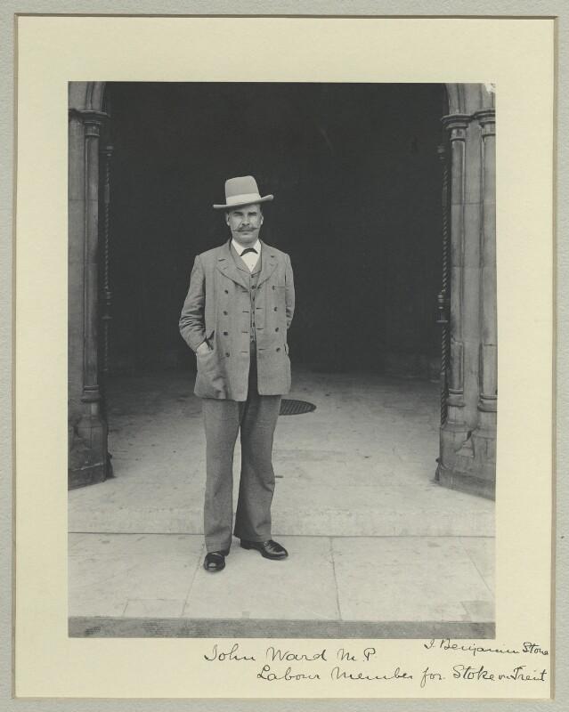 John Ward, by Benjamin Stone, 1908 - NPG x35514 - © National Portrait Gallery, London
