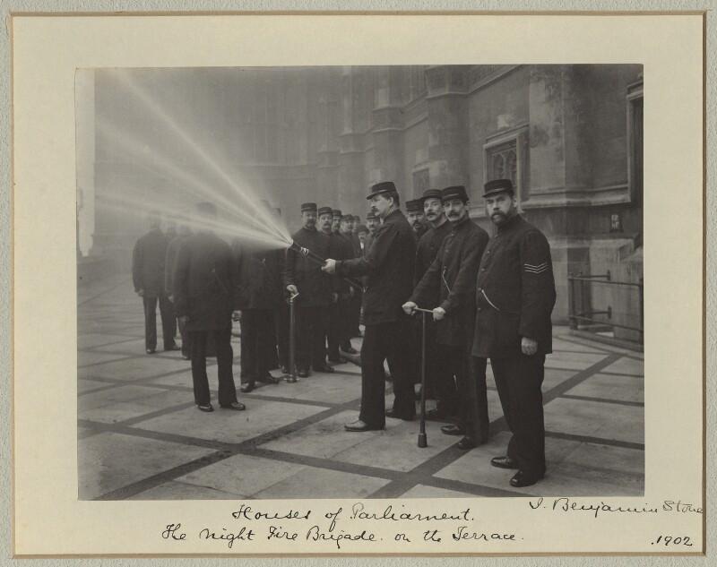 The Night Fire Brigade, by Benjamin Stone, 1902 - NPG x88320 - © National Portrait Gallery, London
