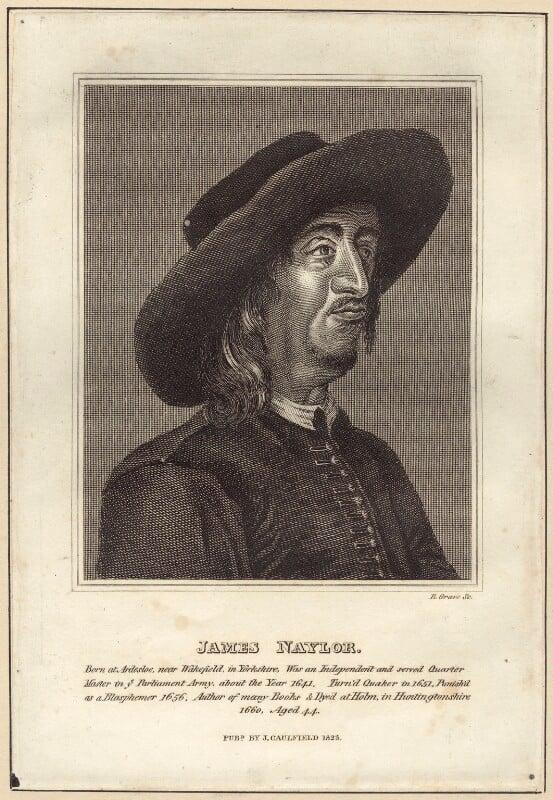 James Nayler, by R. Grave, published by  James Caulfield, published 1823 - NPG D29210 - © National Portrait Gallery, London