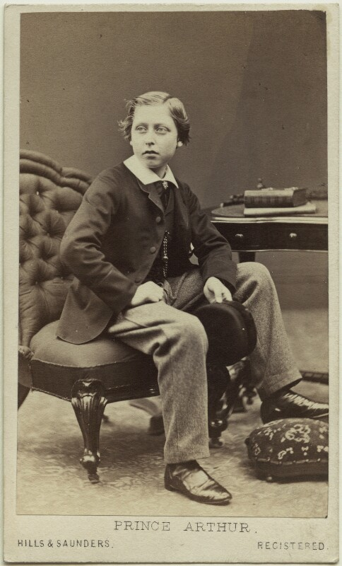 Prince Arthur, 1st Duke of Connaught and Strathearn, by Hills & Saunders, published by  A. Marion, Son & Co, 26 March 1864 - NPG Ax131369 - © National Portrait Gallery, London