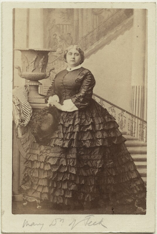 Princess Mary Adelaide, Duchess of Teck, by Camille Silvy, 9 October 1860 - NPG Ax131386 - © National Portrait Gallery, London