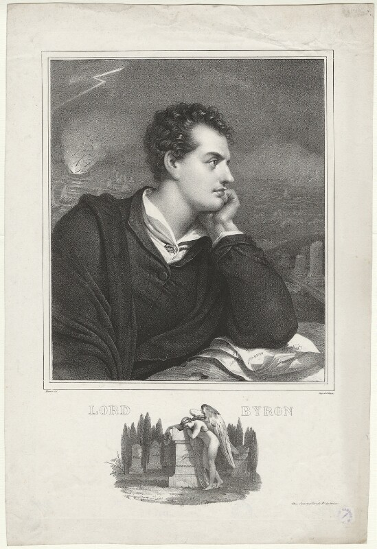 George Gordon Byron, 6th Baron Byron, by Nicolas Eustache Maurin, after  Richard Westall, (1813) - NPG D32520 - © National Portrait Gallery, London