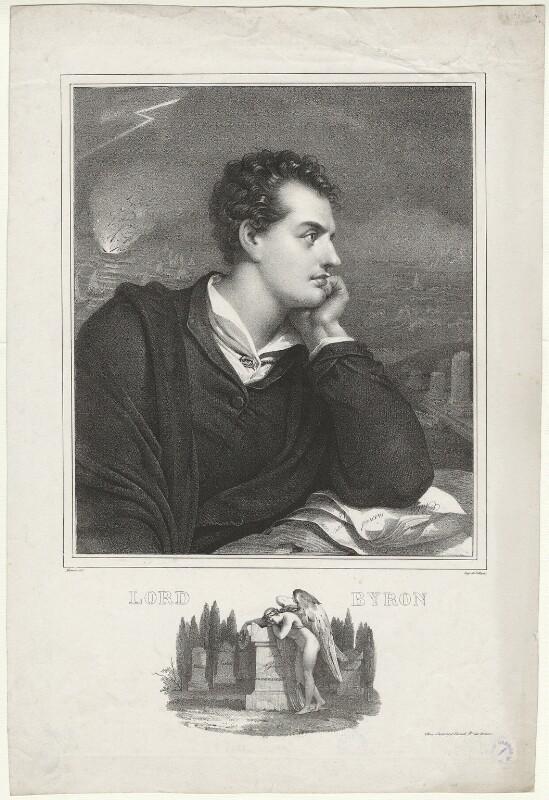 George Gordon Byron, 6th Baron Byron, by Nicolas Eustache Maurin, after  Richard Westall, (1813) - NPG D32520 - © National Portrait Gallery, London