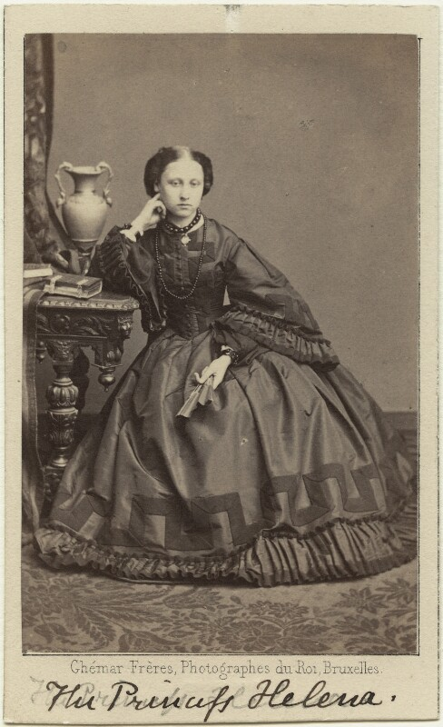 Princess Helena Augusta Victoria of Schleswig-Holstein, by Ghémar Frères, published by  A. Marion, Son & Co, circa 1862 - NPG Ax131379 - © National Portrait Gallery, London
