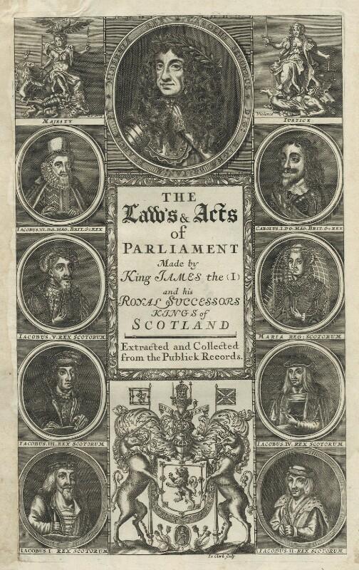 Scottish Royals, by James Clark, late 17th century - NPG D29277 - © National Portrait Gallery, London
