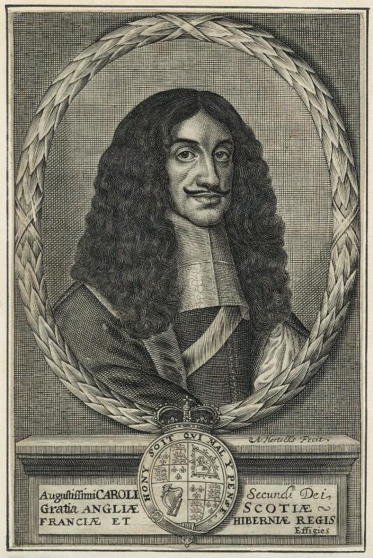 King Charles II, by Abraham Hertochs (Hertocks), 1660s - NPG D29278 - © National Portrait Gallery, London