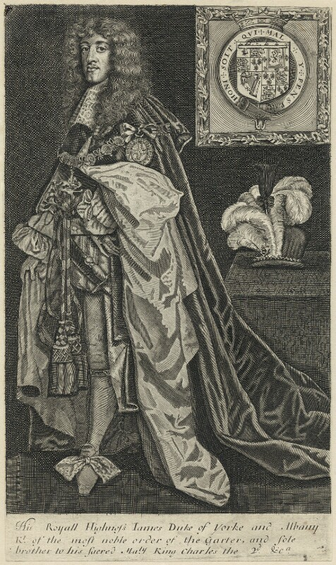 King James II, after Unknown artist, mid 17th century - NPG D29311 - © National Portrait Gallery, London