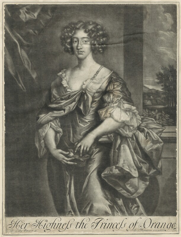 Queen Mary II, published by Richard Tompson, after  Sir Peter Lely, late 17th century - NPG D29324 - © National Portrait Gallery, London
