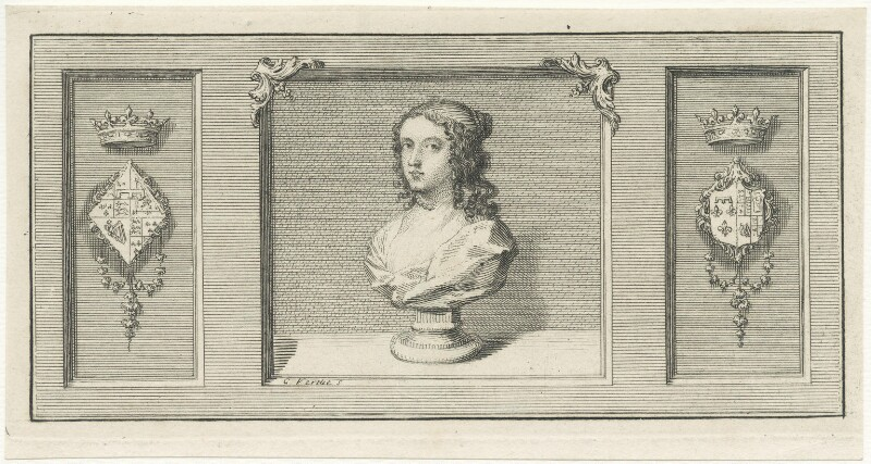 Henrietta Anne, Duchess of Orleans, by George Vertue, early to mid 18th century - NPG D29335 - © National Portrait Gallery, London