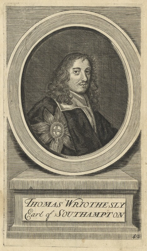 Thomas Wriothesley, 4th Earl of Southampton, by Joseph Sympson (Simpson), after  Sir Peter Lely, circa 1713 (circa 1661) - NPG D29342 - © National Portrait Gallery, London