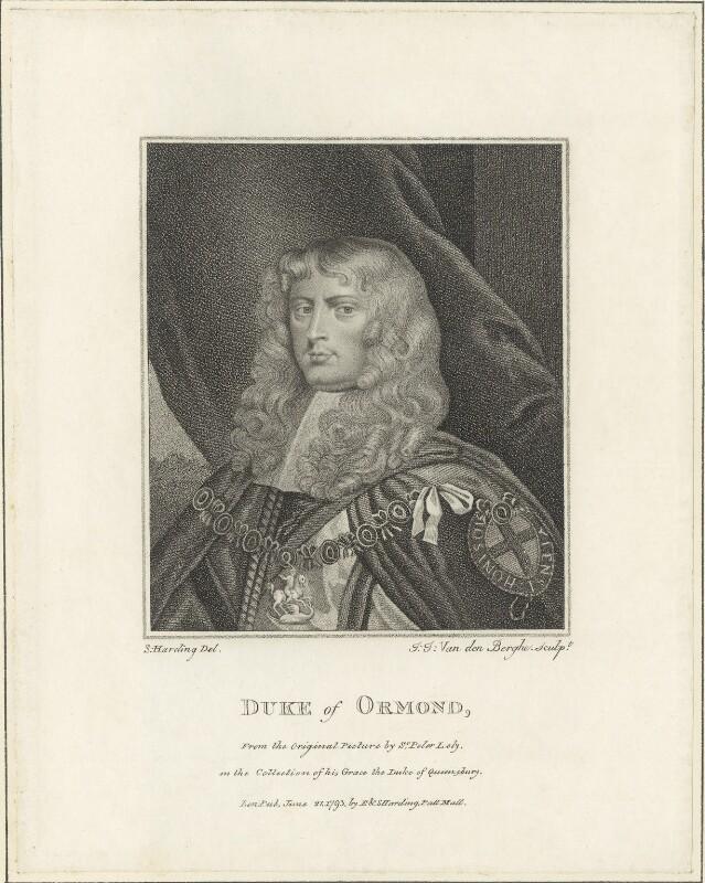 James Butler, 1st Duke of Ormonde, by Ignatius Joseph van den Berghe, possibly after  Sir Peter Lely, published 1793 - NPG D29349 - © National Portrait Gallery, London