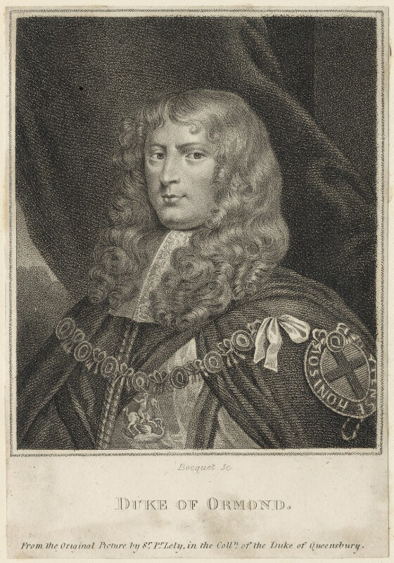 James Butler, 1st Duke of Ormonde, by E. Bocquet, possibly after  Sir Peter Lely, late 18th to early 19th century - NPG D29352 - © National Portrait Gallery, London