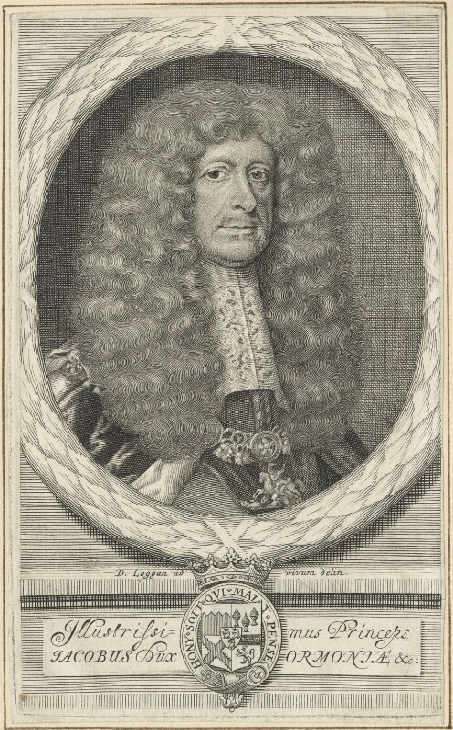 James Butler, 1st Duke of Ormonde, by and after David Loggan, mid to late 17th century - NPG D29356 - © National Portrait Gallery, London