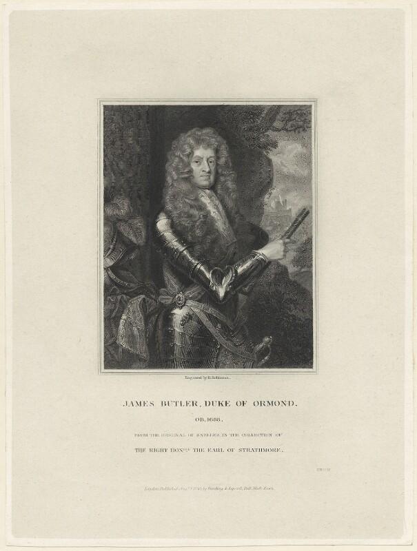 James Butler, 1st Duke of Ormonde, by John Henry Robinson, published by  Harding & Lepard, after  Sir Godfrey Kneller, Bt, published 1 August 1830 - NPG D29360 - © National Portrait Gallery, London