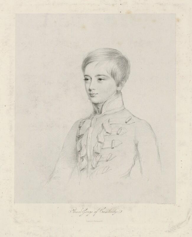Prince George William Frederick Charles, 2nd Duke of Cambridge, by Richard James Lane, 1833 - NPG D32542 - © National Portrait Gallery, London