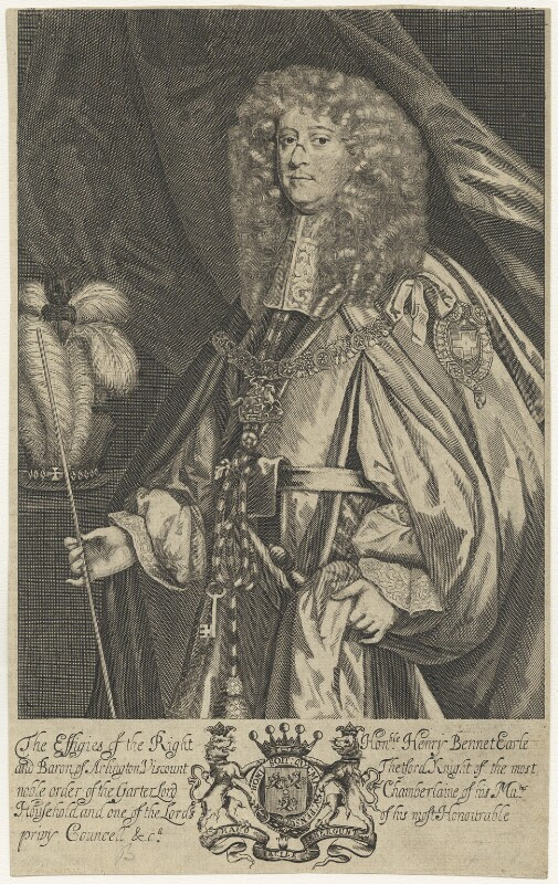 Henry Bennet, 1st Earl of Arlington, after Sir Peter Lely, published 1679 - NPG D29365 - © National Portrait Gallery, London